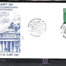 Sellos: 1982 MADRID 17-26/6 ALFIL, FIBART 82, FERIA IBEROAMERICANA DE ARTESANIA,. Lote 24396910