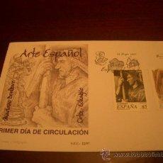 Sellos: ESPAÑA SOBRE PRIMER DIA, ARTE ESPAÑOL, OBRAS DE MARIANO BENLLURE Y JOSE ORTIZ DE ECHAGUE. Lote 15450819