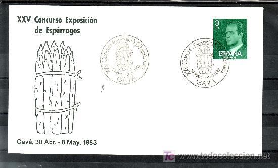 1983 GAVA 30/4-1/5 ALFIL, XXV CONCURSO EXPOSICION DE ESPARRAGOS (Sellos - Historia Postal - Sello Español - Sobres Primer Día y Matasellos Especiales)
