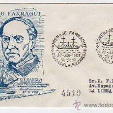 Sellos: E53M20 HOMENAJE A ALMIRANTE FARRAGUT - CIUDADELA 1953 - SOBRE ALFIL. Lote 16455328