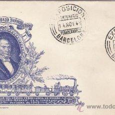 Sellos: CENTENARIO FERROCARRIL EN ESPAÑA *BARCELONA-MATARO* MIGUEL BIADA BUNYOL -OCTUBRE 1948. Lote 16109010