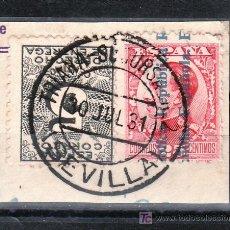 Sellos: .MATASELLO FECHADOR TIPO 1882 TRIANA SUCURSAL Nº 2 SEVILLA, ESPAÑA 592. 598. Lote 16203645