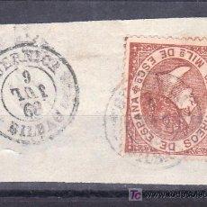 Sellos: .MATASELLO FECHADOR TIPO II (VARIEDAD MES AL REVES) GUERNICA (BILBAO), ESPAÑA 96 FRAGMENTO. Lote 27563420
