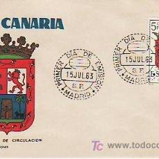 Sellos: GRAN CANARIA. PRIMER DIA DE CIRCULACION. 1963. Lote 26593616
