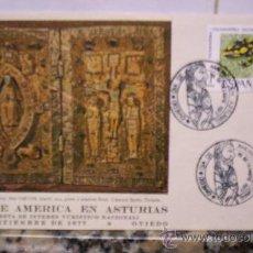 Sellos: DIA DE AMERICA EN ASTURIAS 19 SEPTIEMBRE DE 1977. Lote 26909003