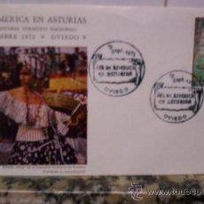 Sellos: DIA DE AMERICA EN ASTURIAS 19 SEPTIEMBRE DE 1972. Lote 26909004