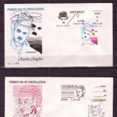 Sellos: ESPAÑA EDIFIL SPD 3013/14 - AÑO 1989 - CENTENARIOS - GABRIELA MISTRAL - CHARLIE CHAPLIN. Lote 18427023