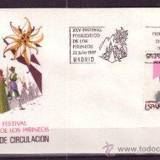 Sellos: ESPAÑA EDIFIL SPD 2910 - AÑO 1987 - FESTIVAL FOLKLORICO DE LOS PIRINEOS JACA. Lote 18451428