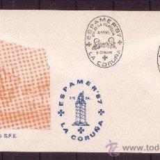 Sellos: LA CORUÑA SPD - AÑO 1987 - ESPAMER 87 - DIA DE LA FILATELIA JUVENIL - 6 DE OCTUBRE . Lote 18814194