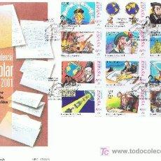 Sellos: SPD CORRESPONDENCIA ESCOLAR 2001 ED. 3822-3833 SERIE COMPLETA. Lote 26383421