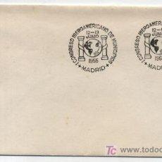 Sellos: SOBRE FRANQUEADO CON EL SELLO Nº 1143,MATASELLADO CON CONMEMORATIVOI CONGRESO IBERO AMERICANO. Lote 19454065