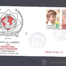 Sellos: INTERNATIONAL POLICE ASSOCIATION - ESPAÑA - SEMANA AMISTAD 1988. Lote 21426159