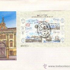 Sellos: ESPAMER-87: EXPOSICION FILATELICA DE AMERICA Y EUROPA, CIUDAD REAL 1987 MATASELLOS EN SOBRE CON H.B.. Lote 26625549