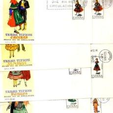 Sellos: COLECCION 14 SOBRES PRIMER DÍA MATASELLADOS - TRAJES - 1967 - 1969 . Lote 26496956
