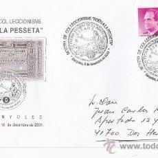 Sellos: ADÉU A LA PESSETA MOSTRA DE COL-LECCIONISME, BANYOLES (GIRONA) 2001. MATASELLOS EN RARO SOBRE. GMPM.. Lote 25976734
