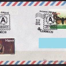 Sellos: SOBRE CIRCULADO MATASELLOS CORREO ESPAÑOL AMBERES 2010 ANTVERPIA. Lote 27474829