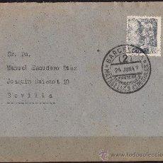 Sellos: SOBRE PRIMERA EXPOSICION NACIONAL MATASELLOS ESPECIALES BARCELONA 1947 (2). Lote 27475544