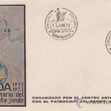 Sellos: CANTE JONDO: PRIMER CINCUENTENARIO DEL CONCURSO, GRANADA 1972. MATASELLOS EN RARO SOBRE. GMPM.. Lote 26911639