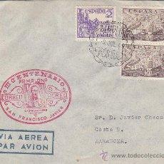 Sellos: SAN FRANCISCO JAVIER III CENTENARIO, PAMPLONA (NAVARRA) 1949. RARA MARCA AEREA EN SOBRE CIRCULADO.. Lote 27270955