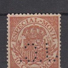 Sellos: ,,PERFORADO J 2 J.C. (AL REVES) JOVER Y Cª BANQUEROS, BARCELONA, ESPECIAL MOVIL . Lote 28472607