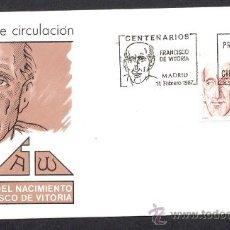Sellos: ESPAÑA 1987. SOBRE PIRMER DIA. CENTENARIO DE FRANCISCO DE VITORIA. Lote 28679073