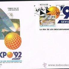 Sellos: ESPAÑA 1992 EDIFIL 3191 SOBRE PRIMER DIA EXPOSICION UNIVERSAL EXPO 92. Lote 28774844