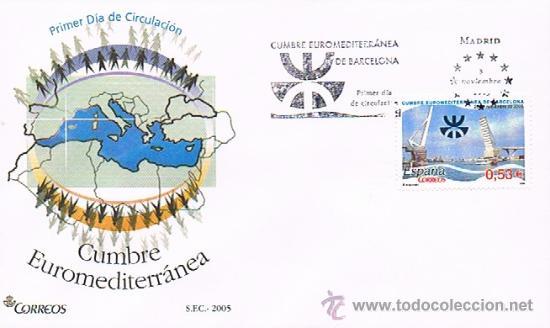 ESPAÑA 2005 EDIFIL 4197 SOBRE PRIMER DIA CUMBRE EUROMEDITERRANEA (Sellos - Historia Postal - Sello Español - Sobres Primer Día y Matasellos Especiales)