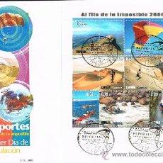 Sellos: ESPAÑA 2006 EDIFIL 4224 SOBRE PRIMER DIA DEPORTES AL FILO DE LO IMPOSIBLE. Lote 28784852