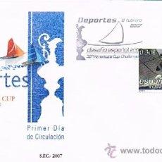 Sellos: ESPAÑA 2007 EDIFIL 4313 SOBRE PRIMER DIA AMERICA CUP CHALLENGER. Lote 28784959