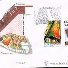 Sellos: ESPAÑA 2007 EDIFIL 4323 A 4328 SOBRES PRIMER DIA ARQUITECTURA. Lote 28784997