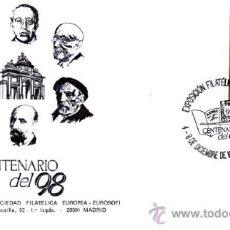 Sellos: SOBRE CONMEMORATIVO FILATELIA 97 - CENTENARIO DE LA GENERACIÓN DEL 98 - DICIEMBRE 1997. Lote 28902197
