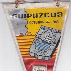 Sellos: ESCUDO DE GUIPUZCOA 1963 MATASELLOS PROVINCIA PRIMER DIA (EDIFIL 1490) EN BANDERIN. RARO ASI. GMPM.. Lote 29093876