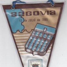 Sellos: ESCUDO DE SEGOVIA 1965 MATASELLOS PROVINCIA PRIMER DIA (EDIFIL 1637) EN BANDERIN BONITO Y RARO. GMPM. Lote 29103443