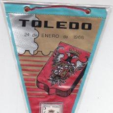 Sellos: ESCUDO DE TOLEDO 1966 MATASELLOS PROVINCIA PRIMER DIA (EDIFIL 1696) EN BANDERIN. BONITO Y RARO. GMPM. Lote 29115651