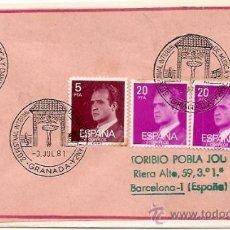 Sellos: SOBRE PRIMER DIA Y MATASELLOS ESPECIALES 30 FESTIVAL INTERNACIONAL DE MUSICA Y DANZA GRANDA 1981. Lote 29512257