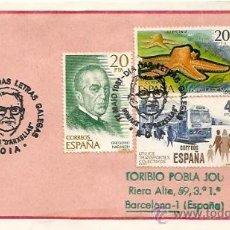 Sellos: SOBRE PRIMER DIA Y MATASELLOS ESPECIALES 17 MAIO 1981-DIA DAS LETRAS GALEGAS - NOIA . Lote 29512773
