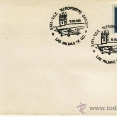 Sellos: EXFI-TCI AEROPUERTO GANDO LAS PALMAS DE GC 10 DIC 1980. Lote 30404313