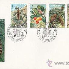 Sellos: FLORA 1972 (EDIFIL 2085/89) EN RARO SPD ILUSTRADO MATASELLOS SAN SEBASTIAN (GUIPUZCOA). GMPM.. Lote 30752018
