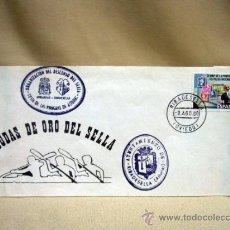 Sellos: SOBRE, BODAS DE ORO DE SELLA, RIBADESELLA, OVIEDO, SELLADO, CUÑADO, 1980. Lote 31106342