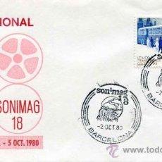 Sellos: SOBRE SONIMAG - BARCELONA AÑO 1980. Lote 31380665