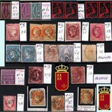 Sellos: MURCIA Y PROV.- H. POSTAL, MAT., E. LOCALES, CARTAS - T.P. P.V. 2.571 €.VER 11 PLANCHAS -CONDICIONES. Lote 31774716