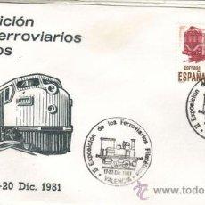 Sellos: VALENCIA - MATASELLOS IIª EXPOSICIÓN DE LOS FERROVIARIOS FILATÉLICOS - AÑO 1981. Lote 31795571