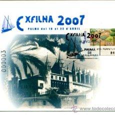 Sellos: POSTAL CIRCULADA CON MATASELLO CONMEMORATIVO EXFILMA 2007. DESTINO MENORCA.. Lote 31848433