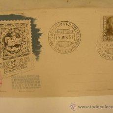 Sellos: + EXPOSICIÓN CIRCULO FILATELICO DE BARCELONA AÑO 1951. Lote 31851010