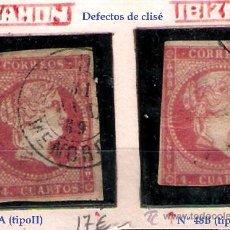 Sellos: ISABEL II - EMISION 1856. 4 CU. (TIPO II) FECHADORES TIPO II DE BALEARES IBIZA Y MAHON EDIFIL Nº 48 . Lote 32350320