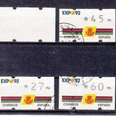 Sellos: ETIQUETA ATMS C.1.2 USADA KLUSSENDORF, EXPO 92. Lote 145045048