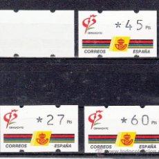Sellos: ETIQUETA ATMS C.1.3 NUEVA KLUSSENDORF, EXP. MUNDIAL DE FILATELIA, GRANADA 92. Lote 32455404