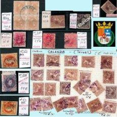 Sellos: TERUEL Y PROV.- HISTORIA POSTAL, MATASELLOS Y CARTAS.P.V, 2.393 €. VER 5 PLANCHAS Y CONDICIONES.. Lote 31793275
