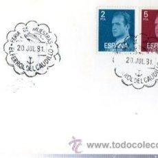 Sellos: TARJETA POSTAL FERIA DE MUESTRAS 1981, EL FERROL DEL CAUDILLO, MATASELLOS EN TARJETA. Lote 32908939