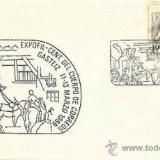 Selos: SOBRE CON MATASELLOS DE GASTEIZ 1989. EXPOFIL CENT DEL CUERPO DE CORREOS. Lote 34318845